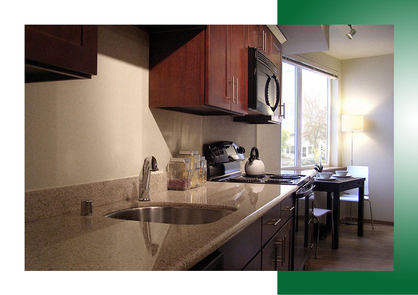 Model Unit Kitchen featuring high-quality, modern finishes